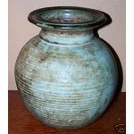 McCarty Pottery Of Ms Large Round Jade Vase Early 90's