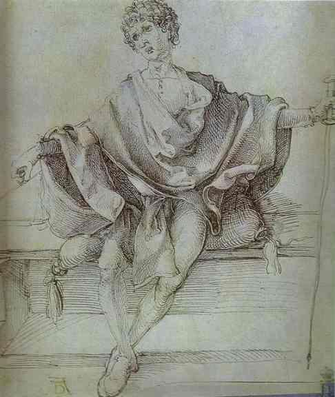Allegory of Justice -    Albrecht Durer  1498,  ink, paper  Gallery: Hermitage, St. Petersburg, Russia: