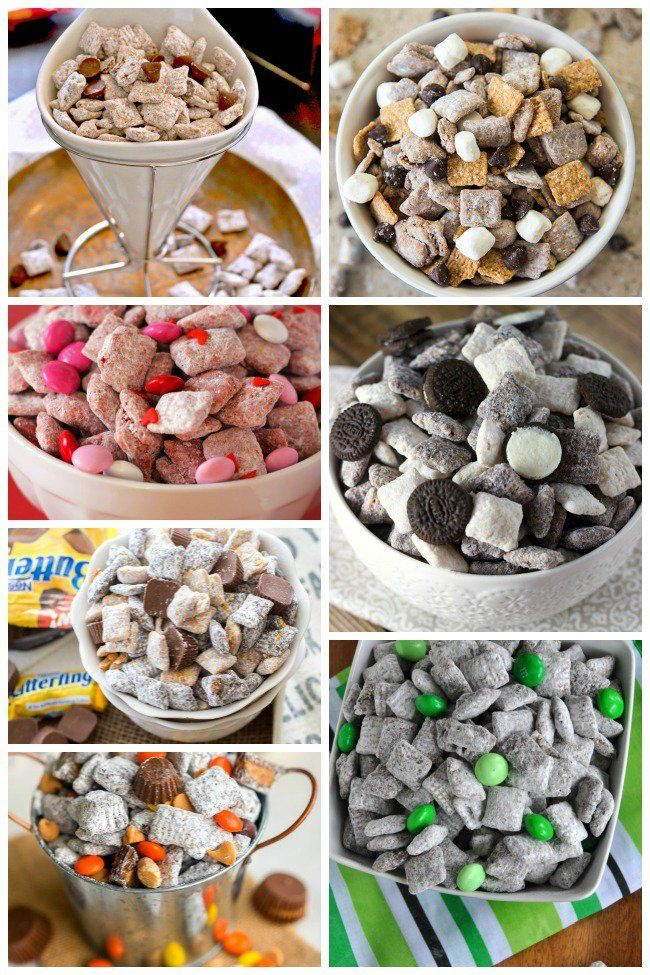30 Crazy Good Puppy Chow Recipes - Adorable options for the humans at a dog birthday party.