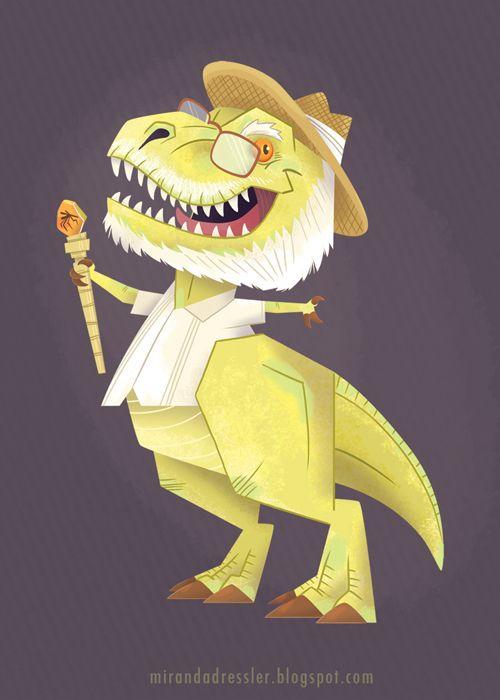 JURASSIC PARK Characters Reimagined As Dinosaurs! - News - GeekTyrant
