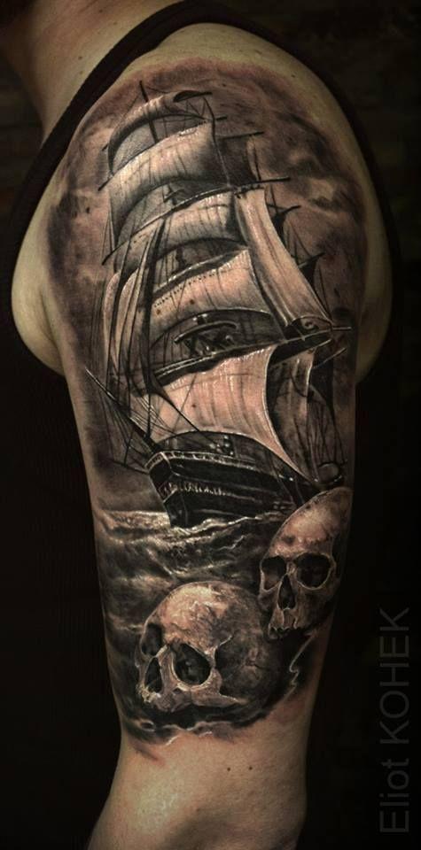 best 25 ship tattoos ideas on pinterest. Black Bedroom Furniture Sets. Home Design Ideas