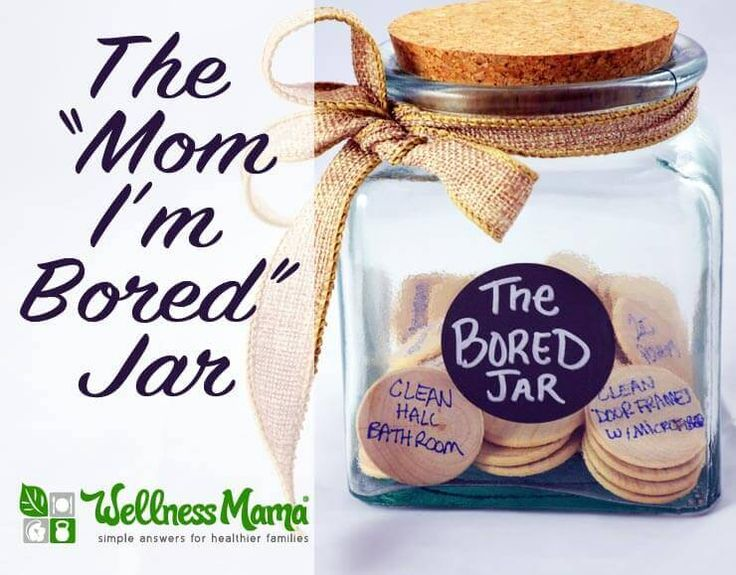 The Bored Jar is a fun way to give your children activities and chores when they get bored. Made with a jar or bucket and activities written on items inside