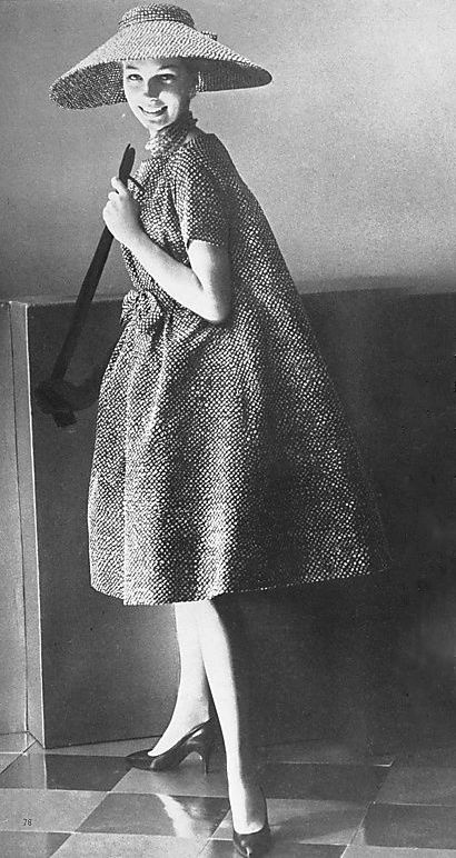 YSL for Dior 'Refrain' dress 1958