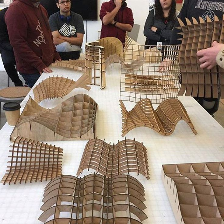 """4,295 curtidas, 17 comentários - ARCFLY  (Festim Toshi) (@arcfly_ft) no Instagram: """"Waffle lasercut models part of #California College of the Arts Digital Media 2 course co-taught by…"""""""