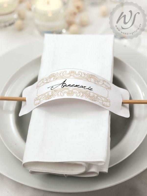Gastgeschenke  Hochzeit  Servietten Serviettenringe und
