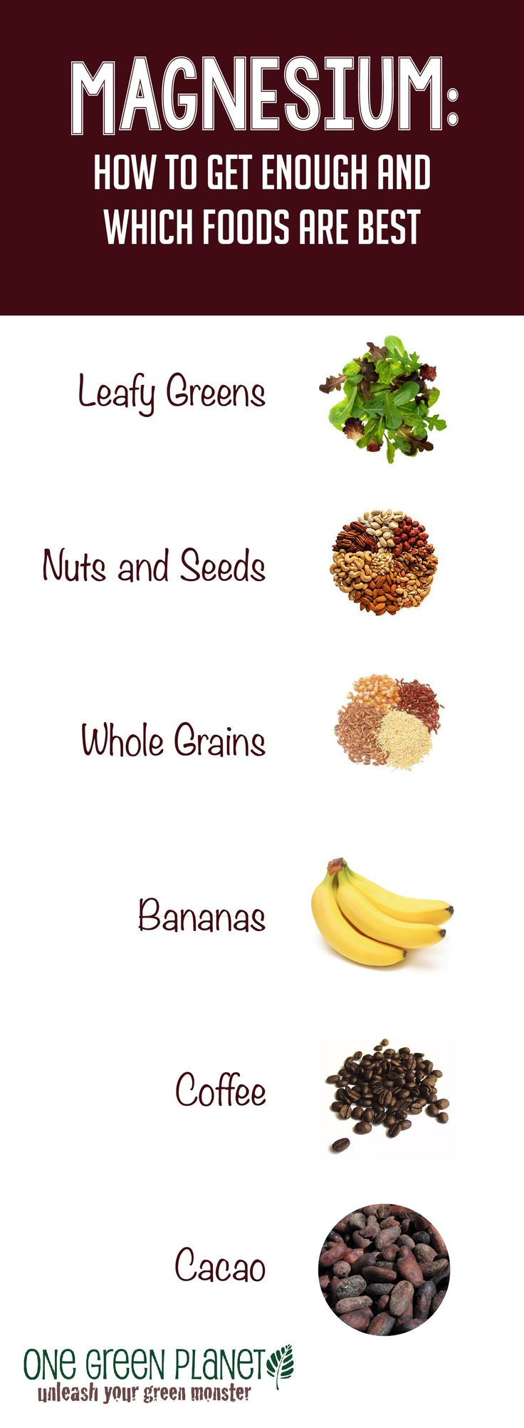 Foods with Magnesium - http://onegr.pl/1uEibKr #vegan #vegetarian #health