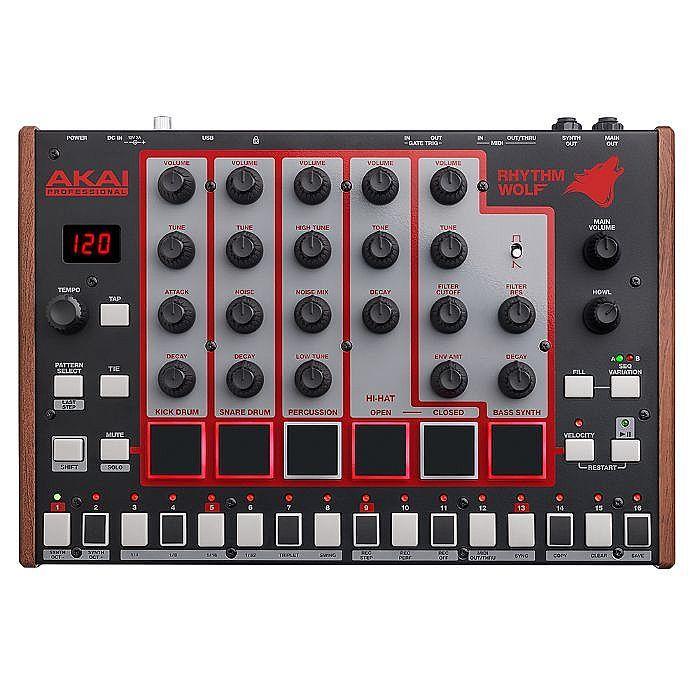 Akai Rhythm Wolf Analog Drum Machine & Bass Synthesizer