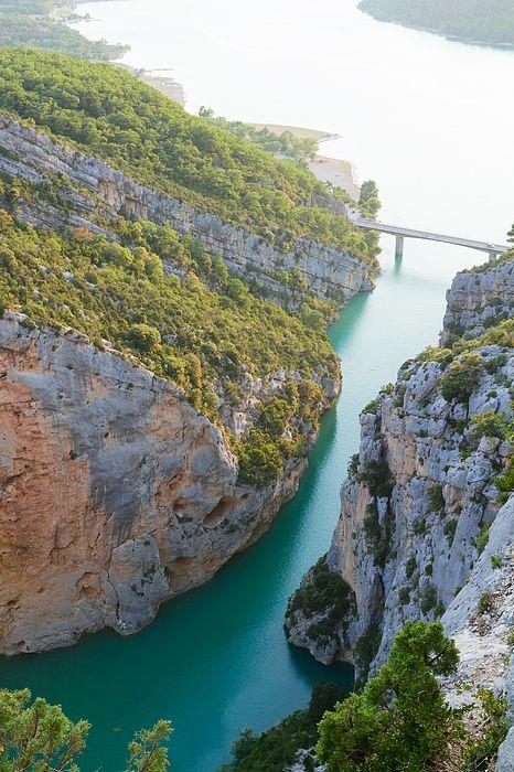 View of mountain spring in Gorge du Verdon, Provence, France by Anastasy Yarmolovich #AnastasyYarmolovichFineArtPhotography  #ArtForHome #France #Provence