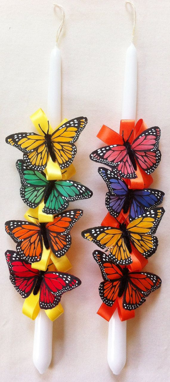 Orthodox Easter Candle Butterflies