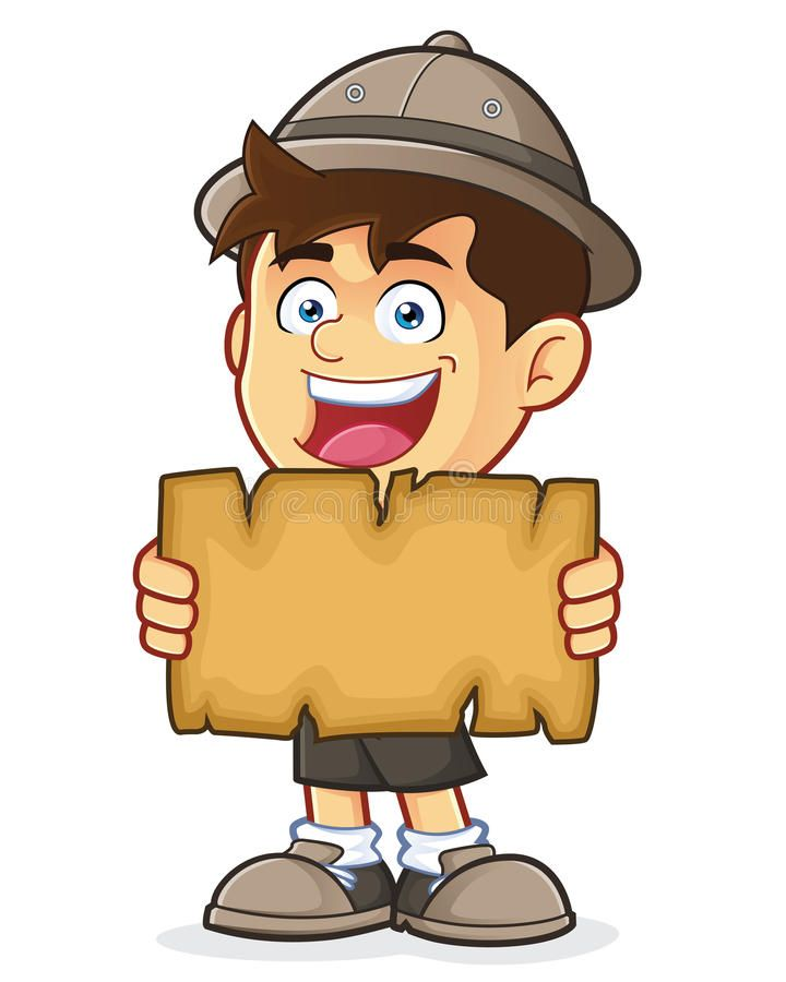 Boy Scout Or Explorer Boy Holding A Blank Map Vector Clipart Picture Of A Boy S Ad Holding Blank Explo Kids World Map Boy Cartoon Characters Clip Art
