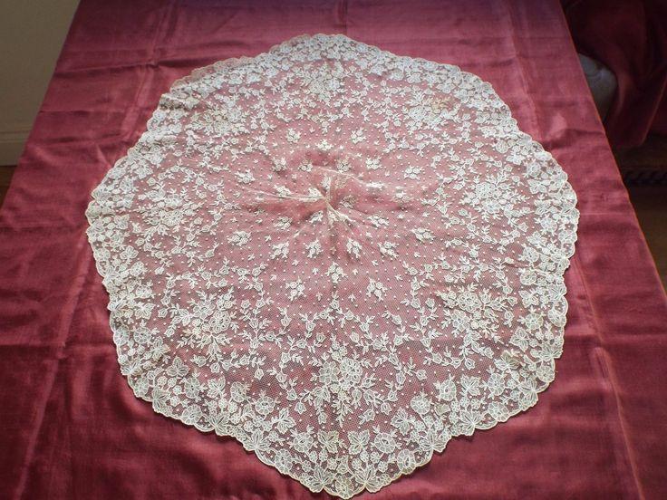 Antique pretty lace parasol cover piece   eBay