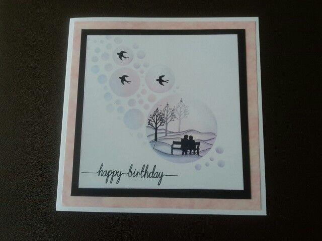 Clarity wee folk birthday card mk