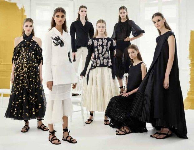 Sfilate alta moda Parigi: Dior incanta il bianco e nero e i tacchi bassi