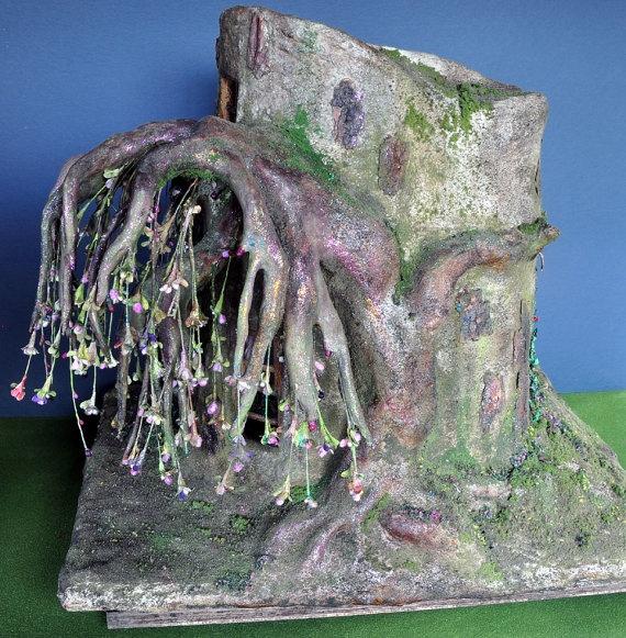 Fairy house tree trunk dollhouse by Torisaur $1200