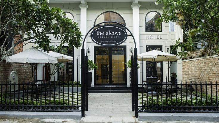 The Alcove Library hotel's entrance