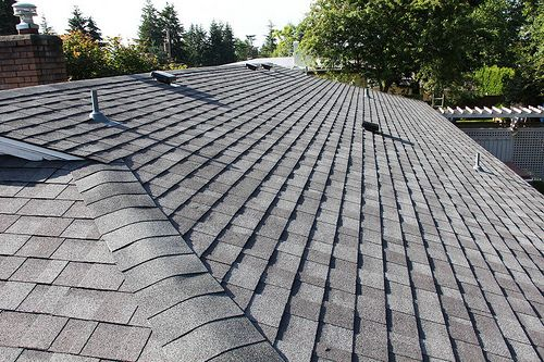 Solar power panel tiles for family homes. http://www.domestic-solar-panels.info/solar-panel-shingles.html After; A new IKO Cambridge composition roof.