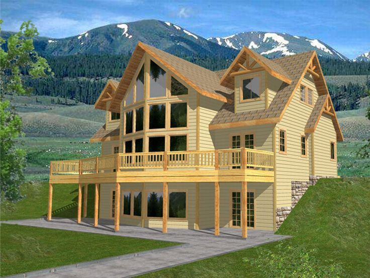 plan 012h 0042 find unique house plans home plans and floor plans at - Rustic Mountain Home Designs