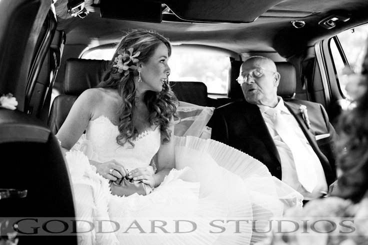 The bride and her father, in anticipation of what's to come next.