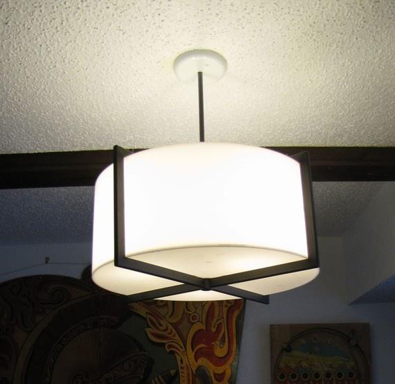 Vintage modernist Habitat streamlined ceiling lamp light 70s #livingroom #diningroom #kitchen $250