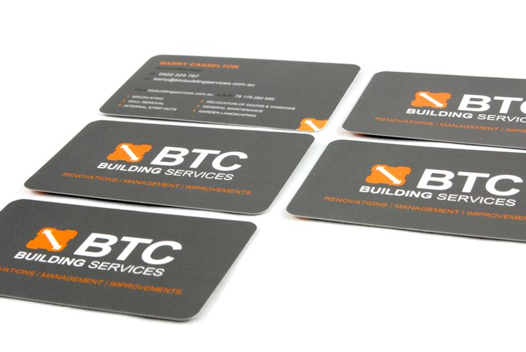 BTC - Business Card Design Perth - www.cvwcreative.com.au - 08 9219 1300
