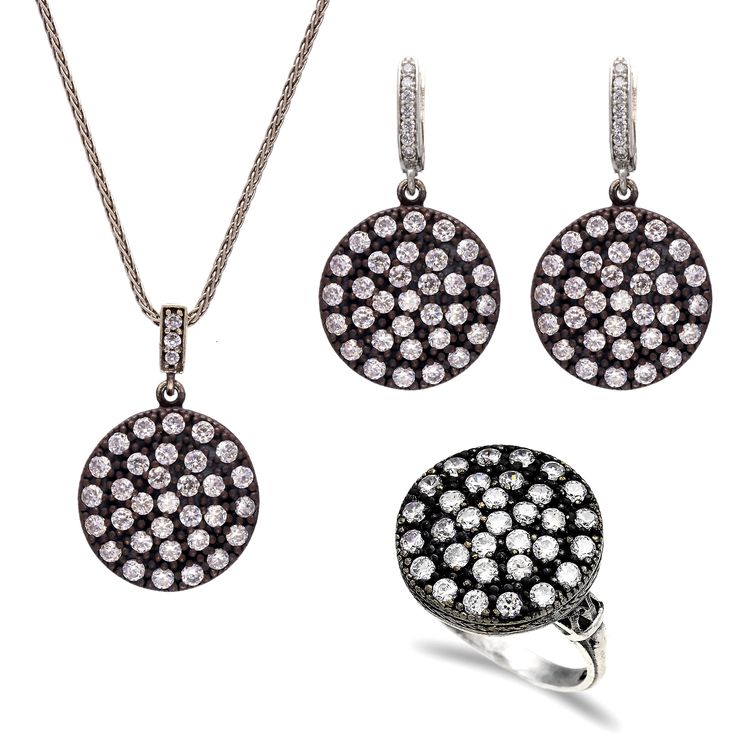 Hurrem Sultan Set 925 ct Sterling Silver with Zircon