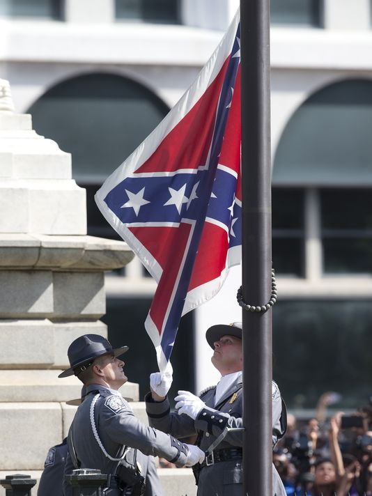 a description of the confederate flag in south carolina Calls to remove confederate flag that killed nine black parishioners — and before the debate over the confederate flag on south carolina's statehouse.