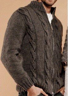 saç örgü erkek hırka modeli