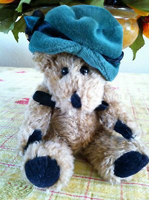 Boyds Bear Blanche de Bearvoire Retired Plush Green Velvet Hat   eBay