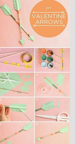 DIY valentine Arrows