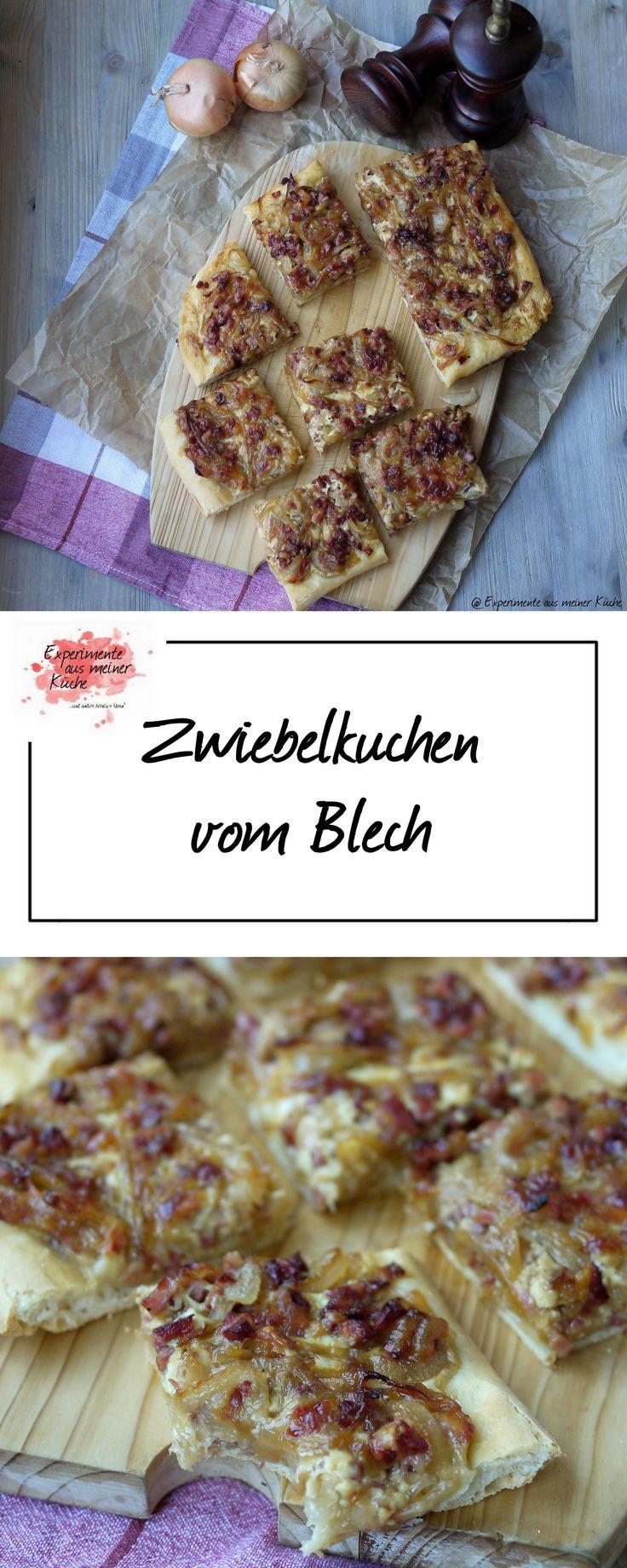 Zwiebelkuchen vom Blech | Rezept | Essen