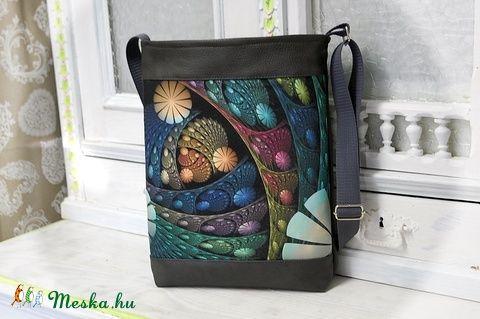 Textilbőr táska - egyedi mintával  (Szatlonekriszta) - Meska.hu