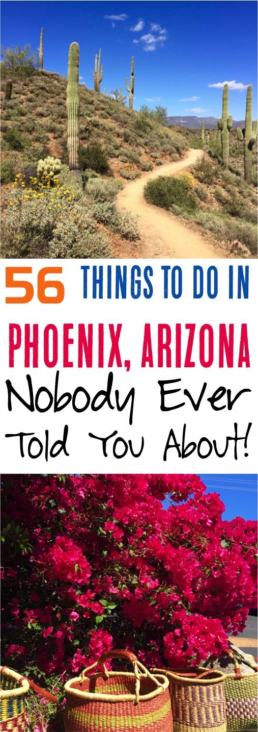 Check out this Phoenix Arizona Travel Guide for the 56 top amazing things you can't miss on your next vacation to this desert city!