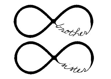 Brother sister infinity tattoos!