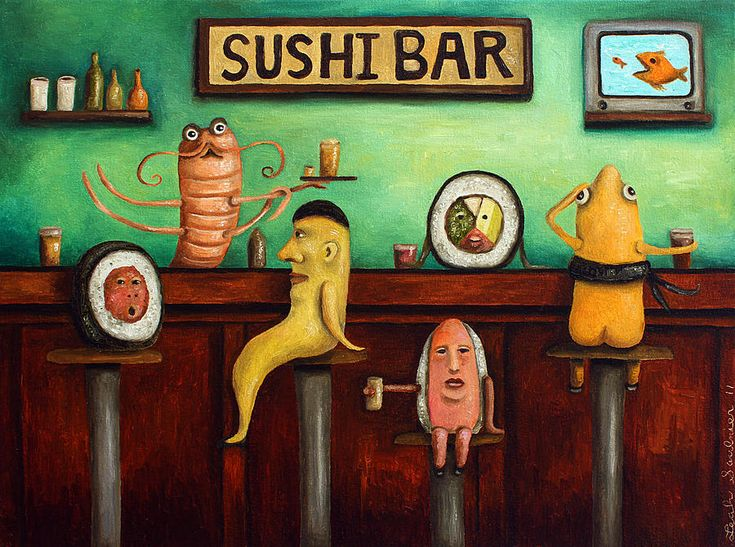 sushi bar improved image kitchen humor the ojays and