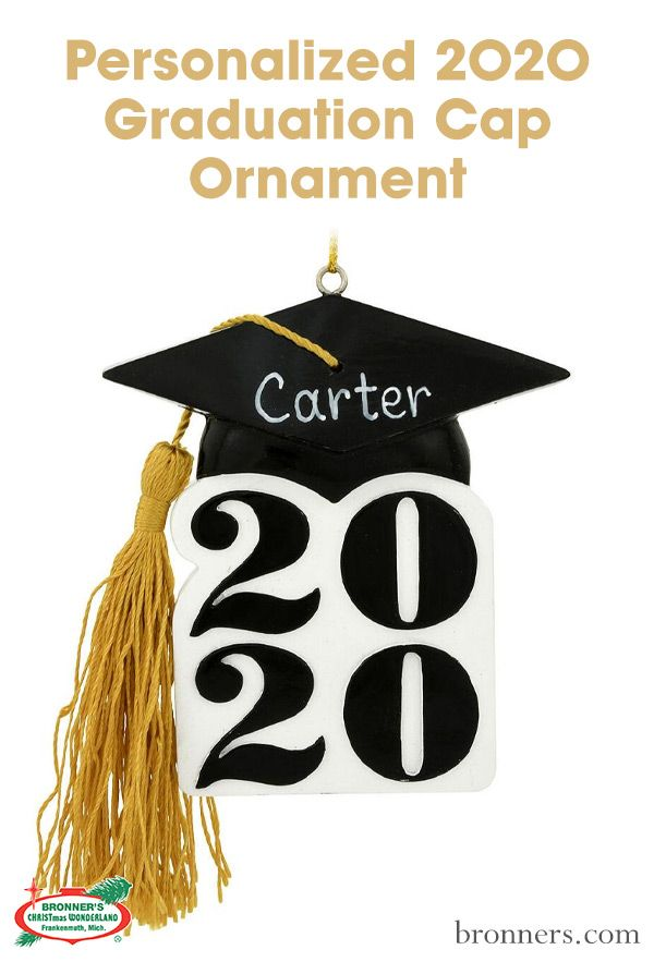 Graduation Christmas Ornament 2020 Personalized 2020 Graduation Cap Ornament | Graduation cap