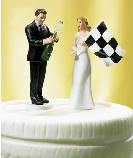 Checkered Flag: Wedding Cake Toppers, Funny Wedding Cakes, Grooms Figurines, Checkered Flags, Victorious Grooms, Bride, Wedding Cakes Toppers, Finish Line, Grooms Cakes