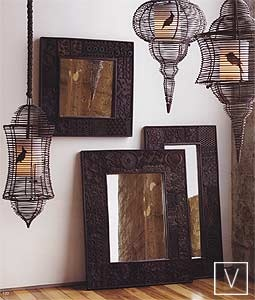Print block mirrors love this type of frame for the home for Types of mirror frames