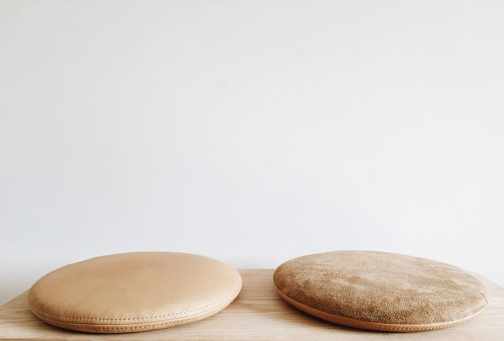Counter-Space's Leather Cushion: Remodelista