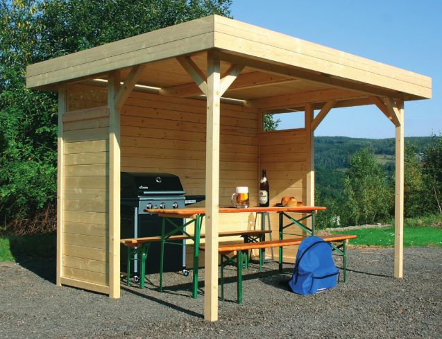 28 best images about bbq shelter on pinterest for Small garden shelter