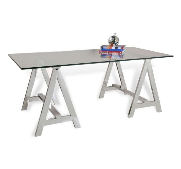 valeria sawhorse desk - Designer Glass Desk