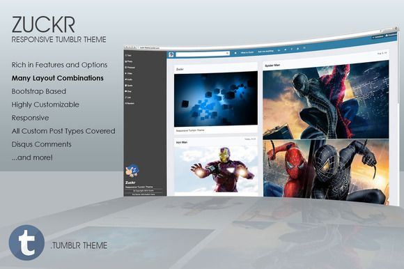 Zuckr - Our Latest Responsive Tumblr Theme  on Creative Market