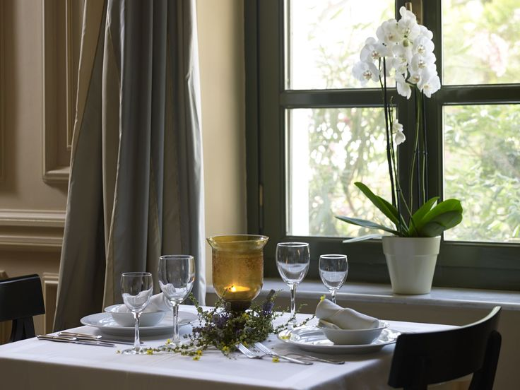 Enjoy your lunch at our restaurant with an amazing view! #ThermaeSylla #Gastronomy