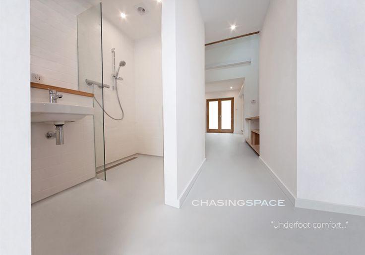 Resin floor wet room