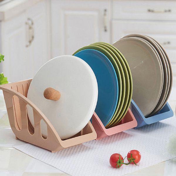 Titular prateleira da cozinha drianing escorredor de plástico tigelas de armazenamento holde prato placa organizador de secagem