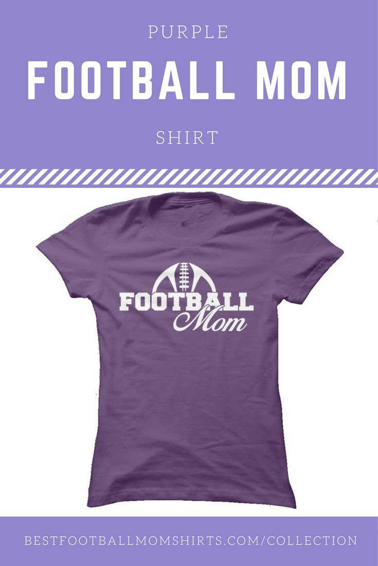 Purple is my favorite color! I think I need this football mom tee to add to my football mom shirt collection. Now, if only our football team's color was purple... :)