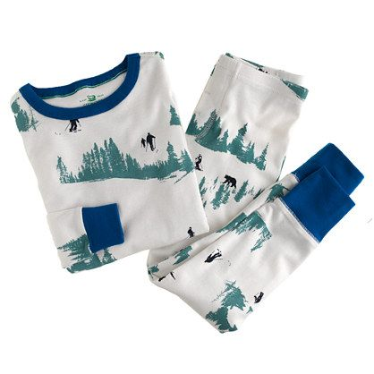 Boys' ski-print sleep set