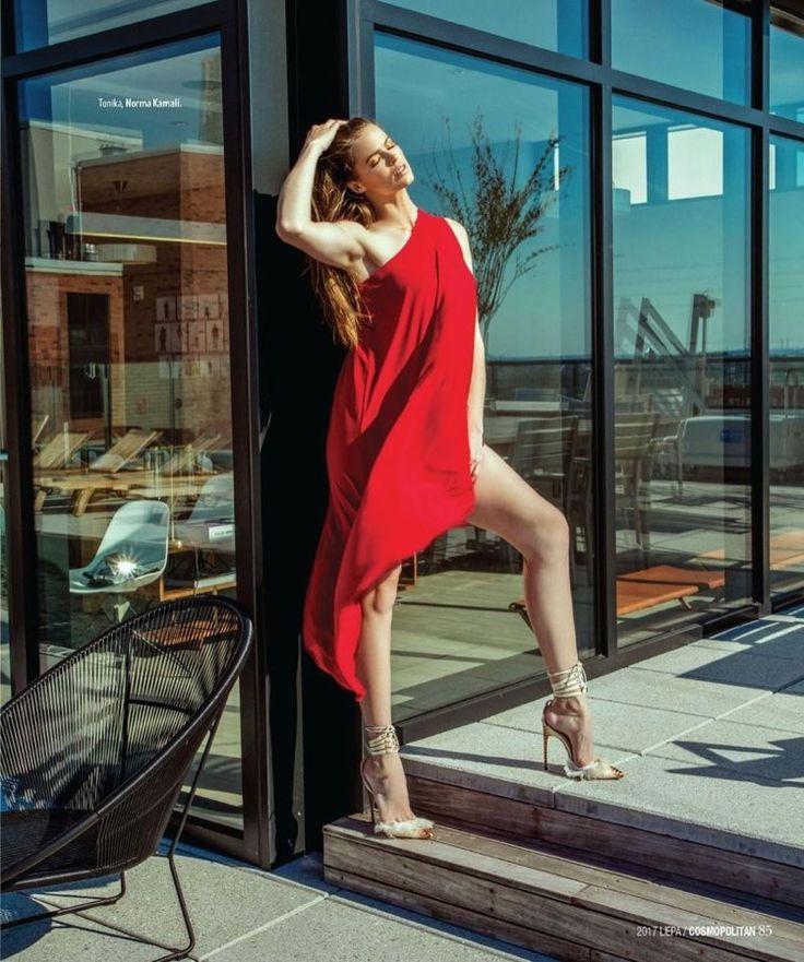 Robyn Lawley Models Poolside Fashion in Cosmopolitan Lithuania