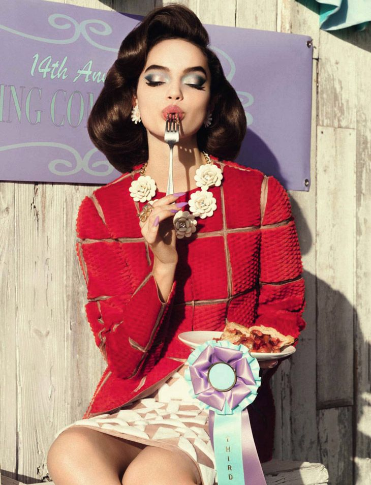 Luma Grothe, Hailey Clauson & Britt Linn for Glamur Italia