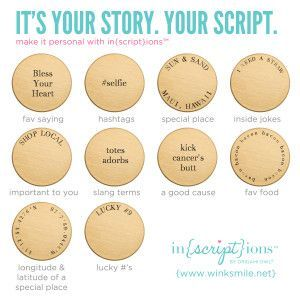 Origami Owl's new Inscription plates. They take 7 days to even ship out from the Nest, so order early!! www.lanayancey.origamiowl.com