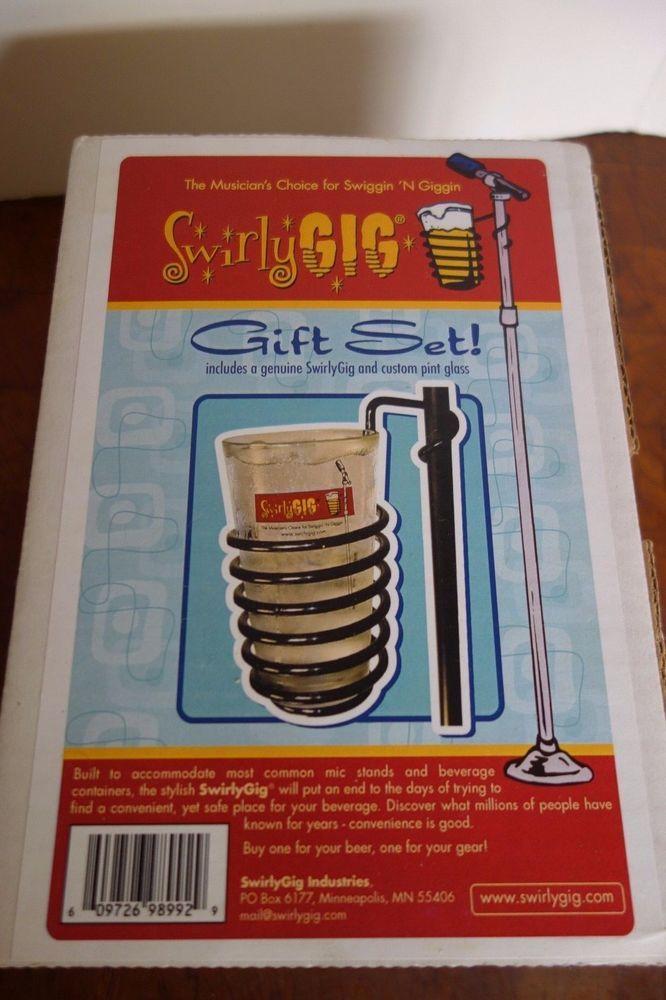 Swirly Gig Mic stand Music stand drink holder GIFT SET NEW IN BOX #SWIRLYGIG